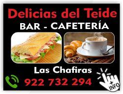 cafeteria delicias del teide las chafiras arona tenerife sur islas canarias