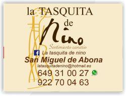 la tasquita de nino san miguel de abona tenerife sur restaurante guachinche tasquita de nino