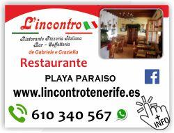 pizzeria lincontro italiana en playa paraiso adeje tenerife