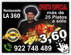 restaurante la 360 costa del silencio arona tenerife sur platos a 360 euros