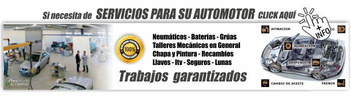 servicios para vehiculos coches en tenerife sur islas canarias talleres chapa pintura parabrisas