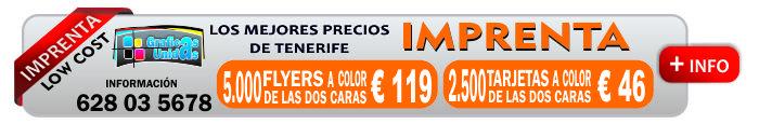 imprenta de tenerife a bajo costo amo las islas canarias sur 628035678