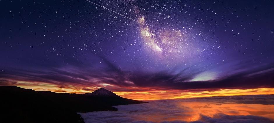 donde pasar la noche en el teide para ver las estrellas via lactea desde el teide tenerife islas canarias