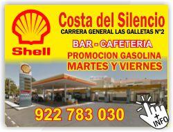 gasolinera shell en costa del silencio las galletas tenerife sur la estrella islas canarias gasolina economica