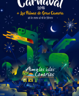 carnaval 2018 cartel de los carnavales de gran canaria islas canarias cartelera