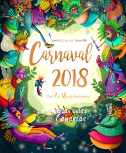 cartel de los carnavales 2018 en tenerife islas canarias españa europa amo las islas canarias