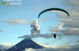 imagenes de paragliding parapente deporte extremo en canarias españa